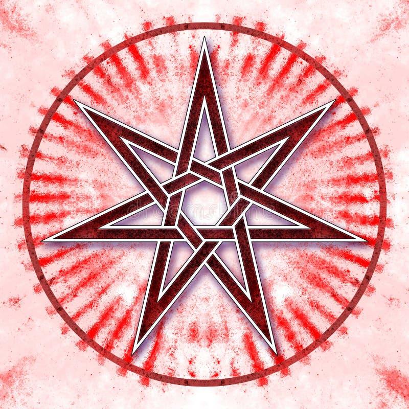Heptagon - αστέρι της αγάπης διανυσματική απεικόνιση