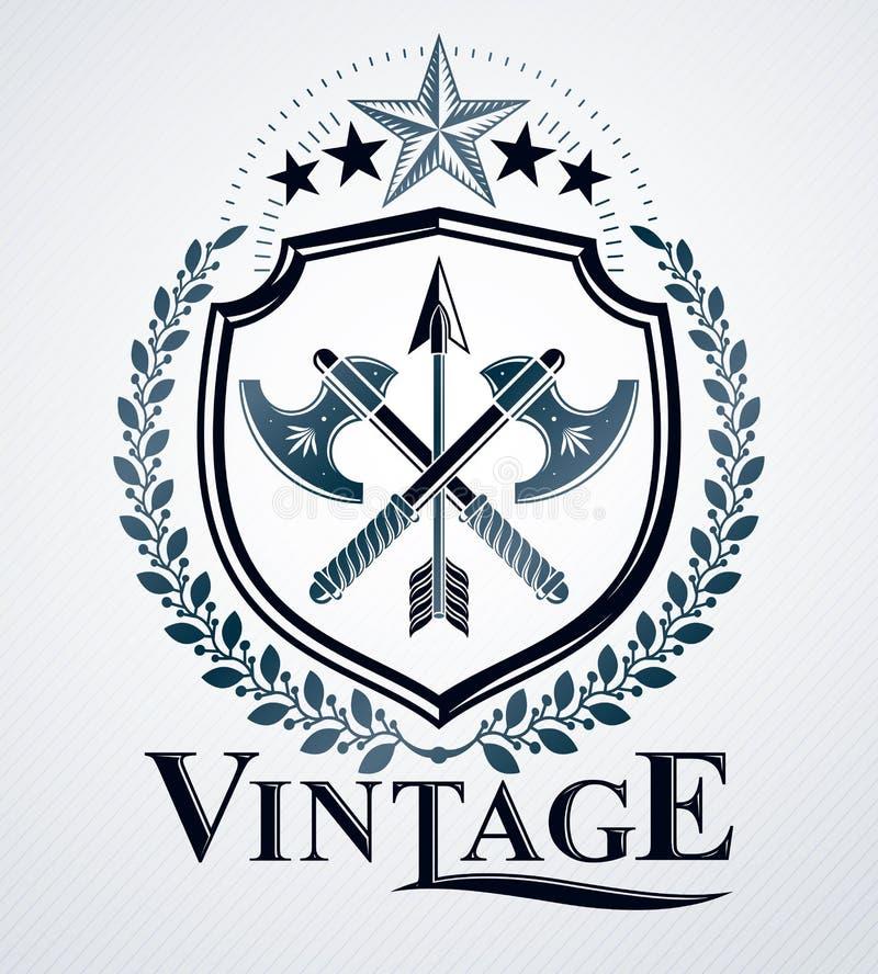 Heráldico, emblema do vintage ilustração royalty free