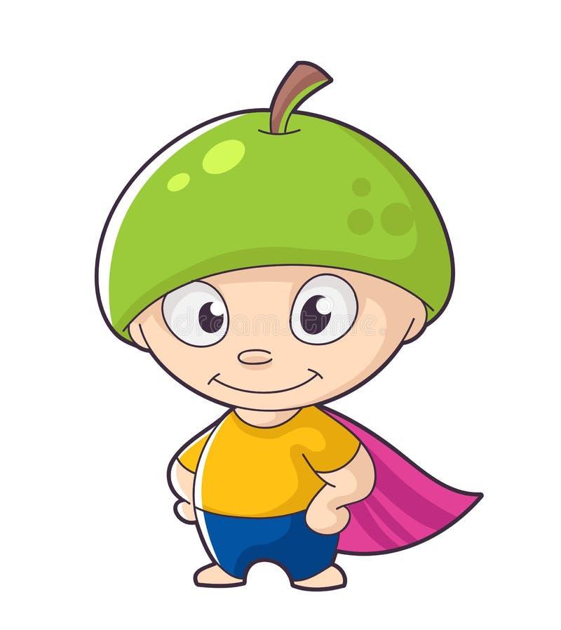 Herói bonito do fruto ilustração do vetor