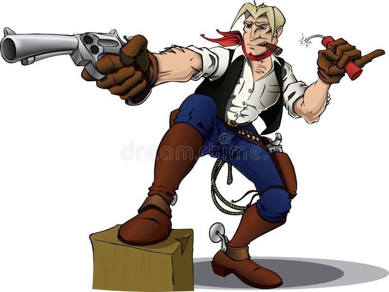 Herói do cowboy ilustração do vetor