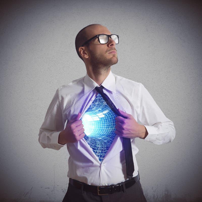 Herói do Cyberspace imagem de stock royalty free