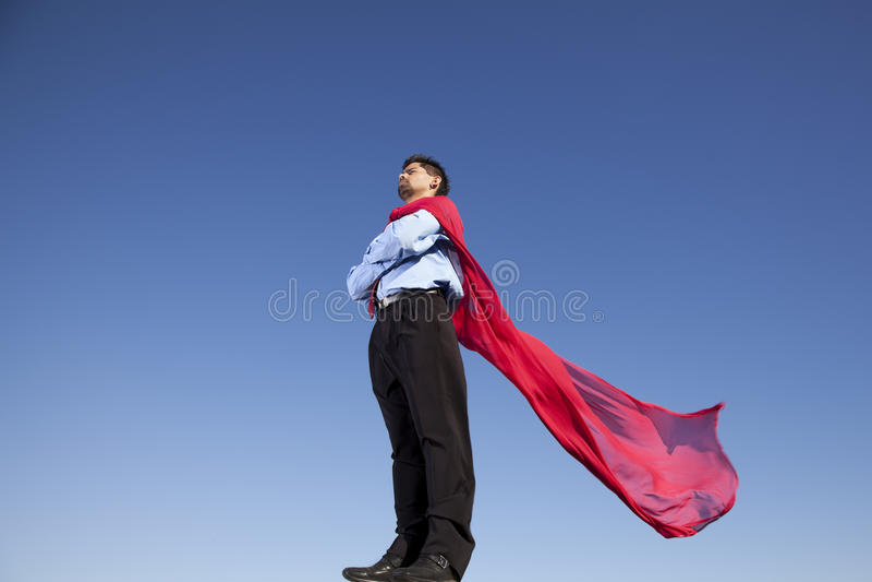 Herói do homem de negócios imagens de stock