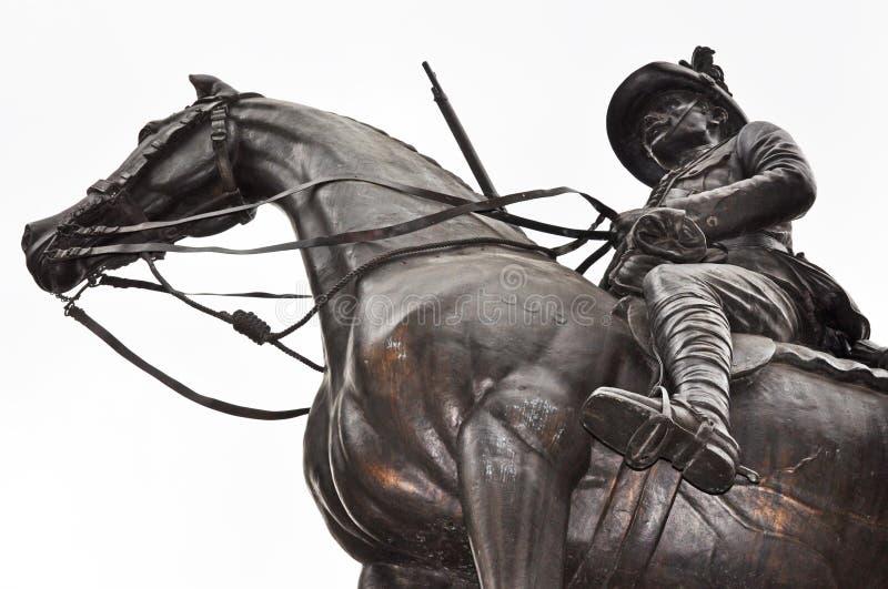Herói do soldado em horseback fotografia de stock royalty free