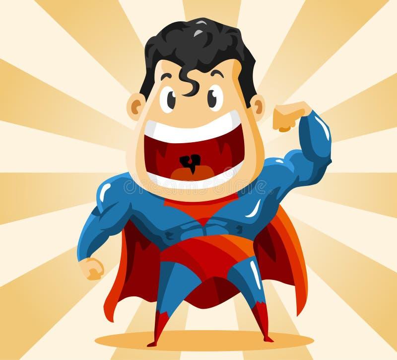 Herói super forte ilustração royalty free