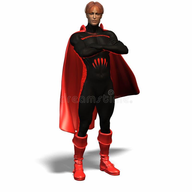 Herói super vermelho #1 ilustração do vetor