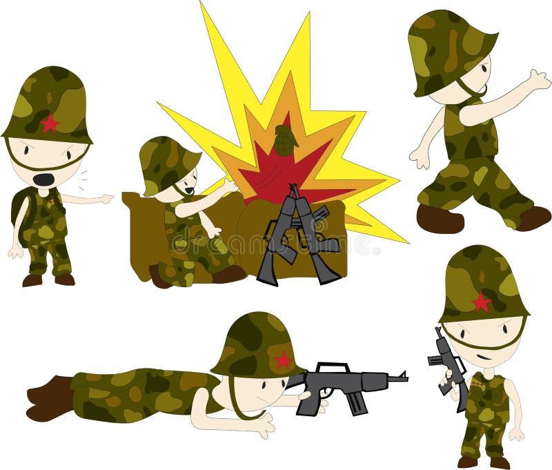 Heróis da guerra ilustração royalty free