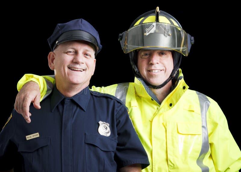 Heróis felizes foto de stock