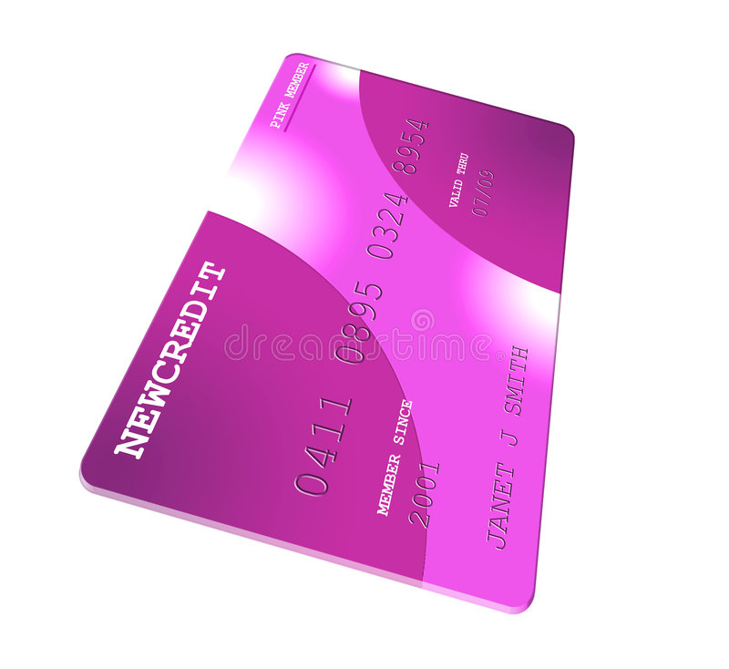 Her Credit Card stock illustration