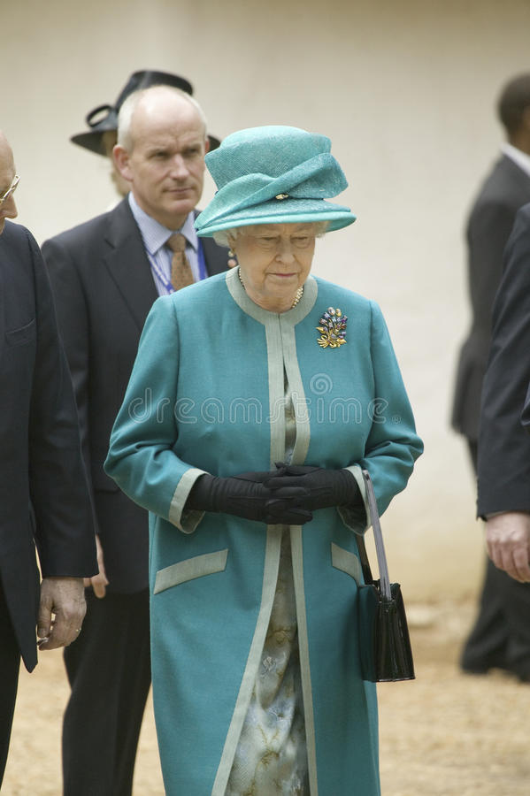 Her Majesty Queen Elizabeth II. Visiting James Fort, Jamestown Settlement, Virginia on May 4, 2007, the 400th Anniversary of English establishment of 1607 royalty free stock photography