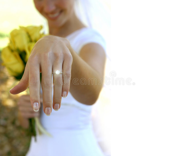 Download Her new ring stock photo. Image of married, holding, white - 38558