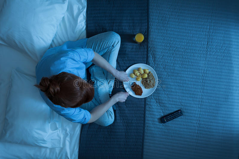 Her typical evening stock images