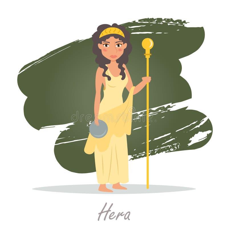 hera Dioses griegos Vector libre illustration