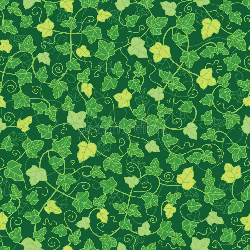 A hera verde planta o fundo sem emenda do teste padrão ilustração do vetor