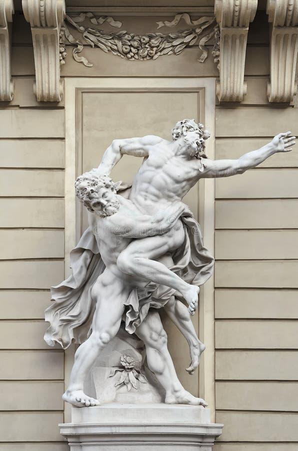 Heracles contra Antaeus imágenes de archivo libres de regalías