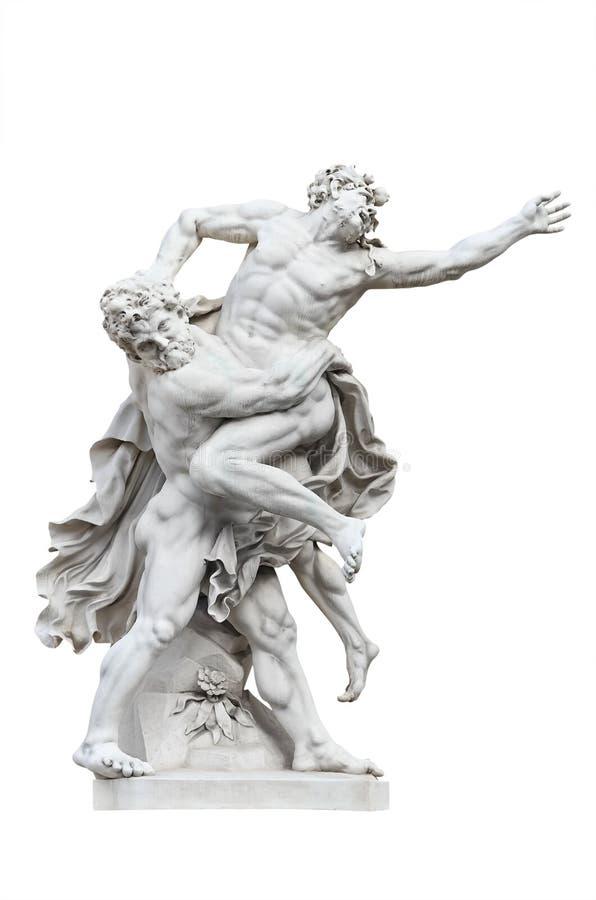 Heracles contra Antaeus fotografía de archivo libre de regalías