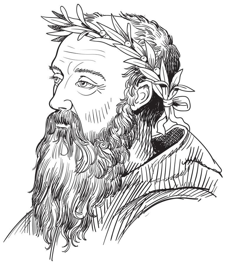Heraclitus, Grecki filozof wektor ilustracji