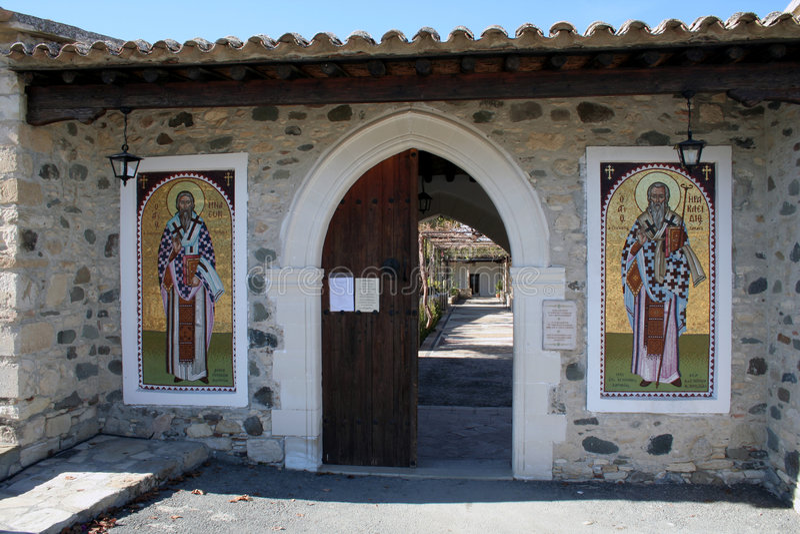 heraklidhios входа ayios стоковые фотографии rf