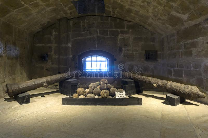 Heraklion, Crete Island / Greece. Interior view of the Venetian fortress Koules (castello a mare royalty free stock photos