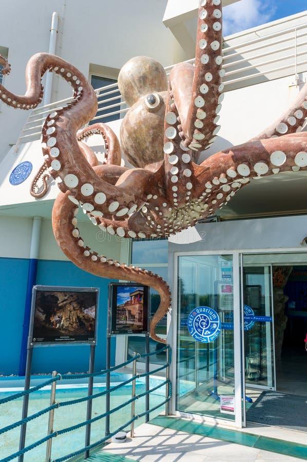 HERAKLION, GREECE - AUGUST 1, 2014: Crete Aquarium. HERAKLION, GREECE - AUGUST 1, 2014: The building of Crete Aquarium on August 1, 2014. Crete Aquarium is royalty free stock images