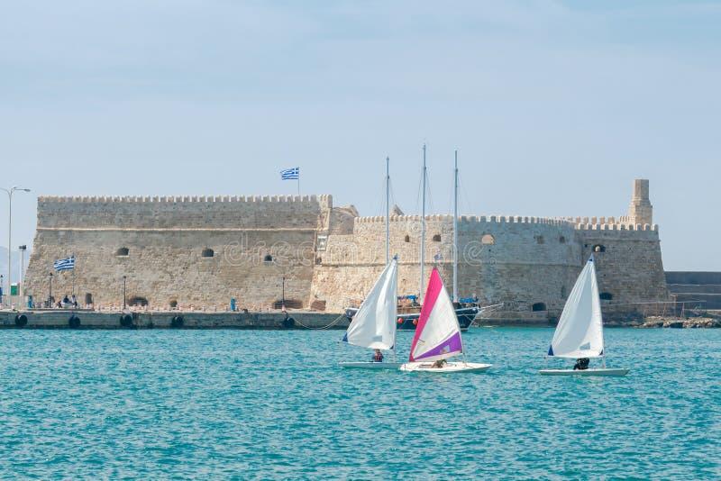 Heraklion La fortaleza veneciana vieja fotografía de archivo libre de regalías
