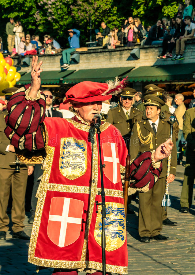 Free Herald At Tallinn Old Town Days Opening Ceremony Royalty Free Stock Photos - 86797908