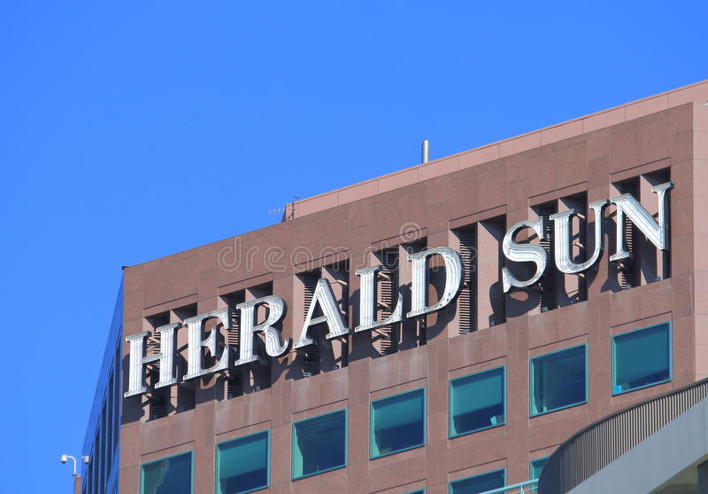 Herald Sun-krant Melbourne stock foto