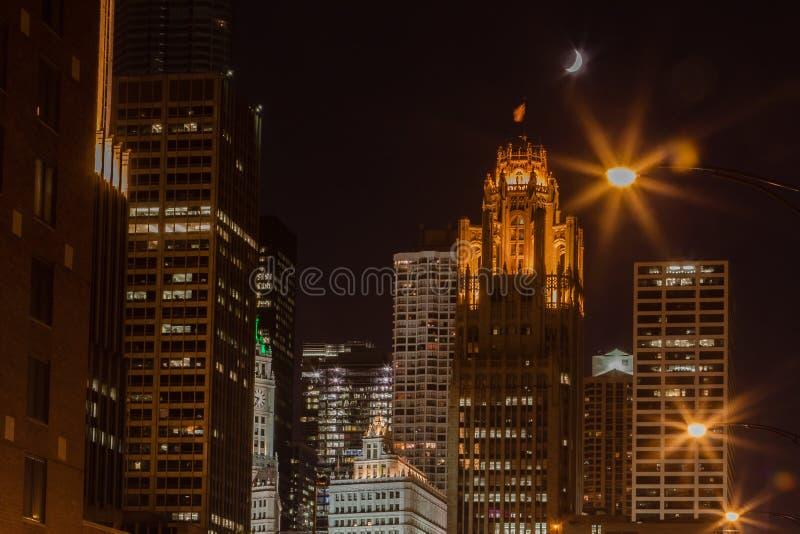 Herald Tribune Chicago immagini stock libere da diritti