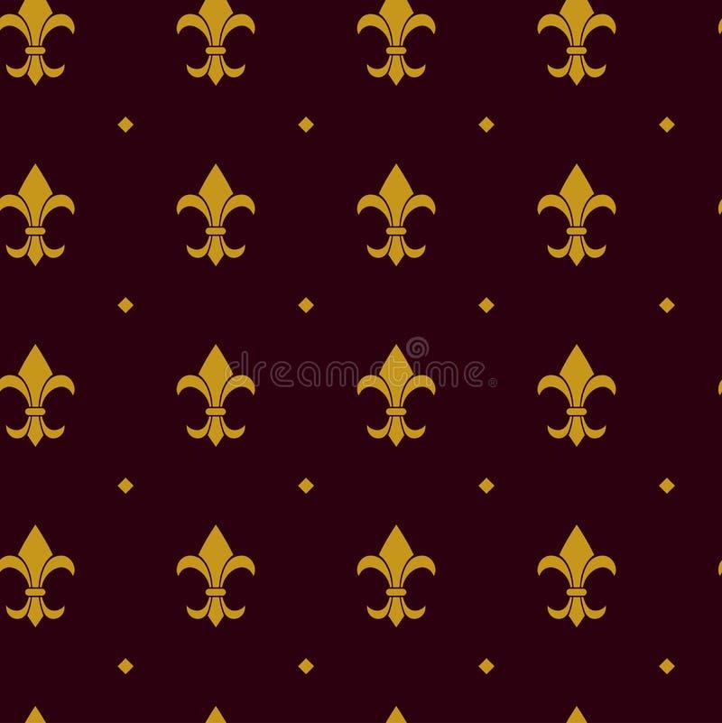 Heraldic вектор картины лилии бесплатная иллюстрация