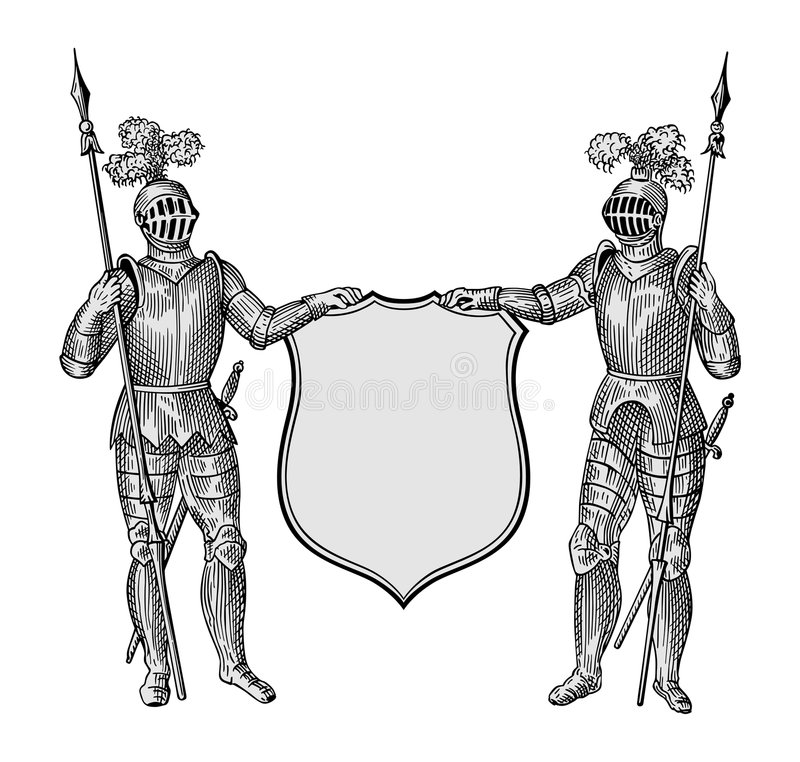 heraldic вектор иллюстрация штока