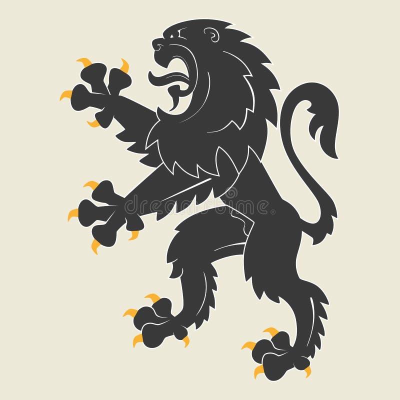 Heraldic лев иллюстрация штока