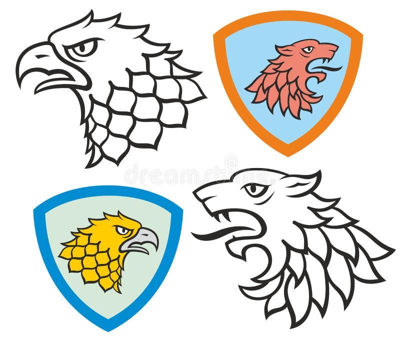 heraldic royalty-vrije illustratie