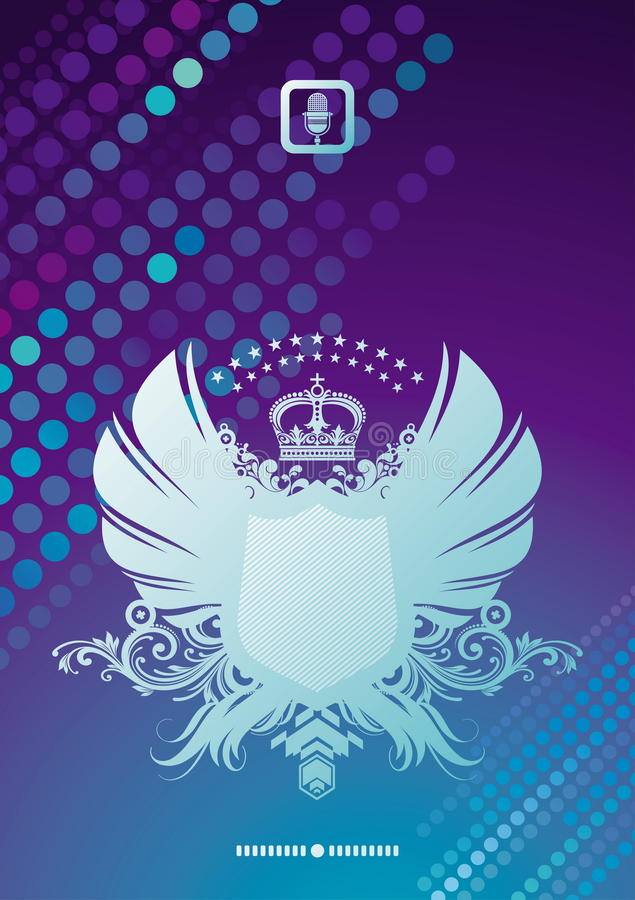 Download Heraldic Coat Of Arms On A Glittering Background Stock Vector - Illustration: 15377524