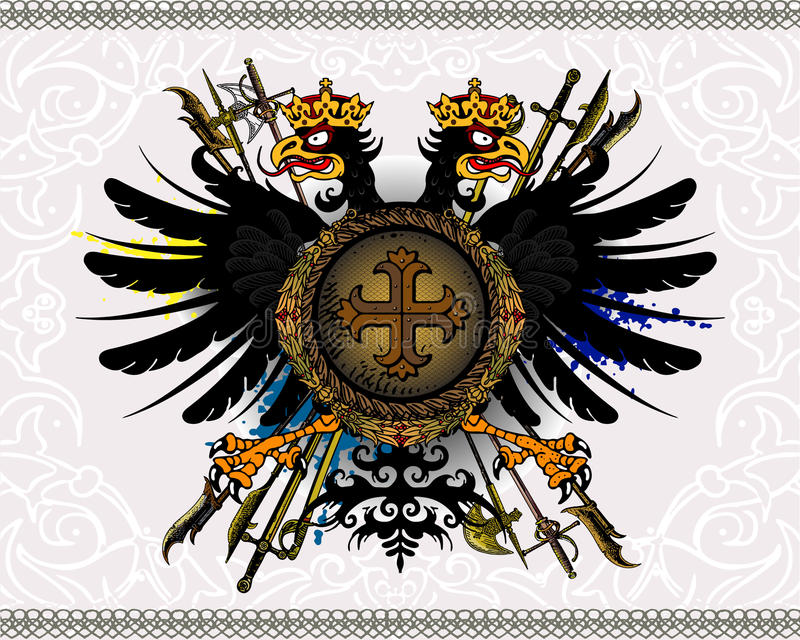 Heraldic eagle stock illustration
