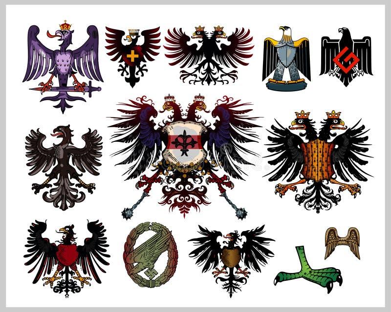 Download Heraldic eagles stock vector. Image of cartoon, banner - 14495826