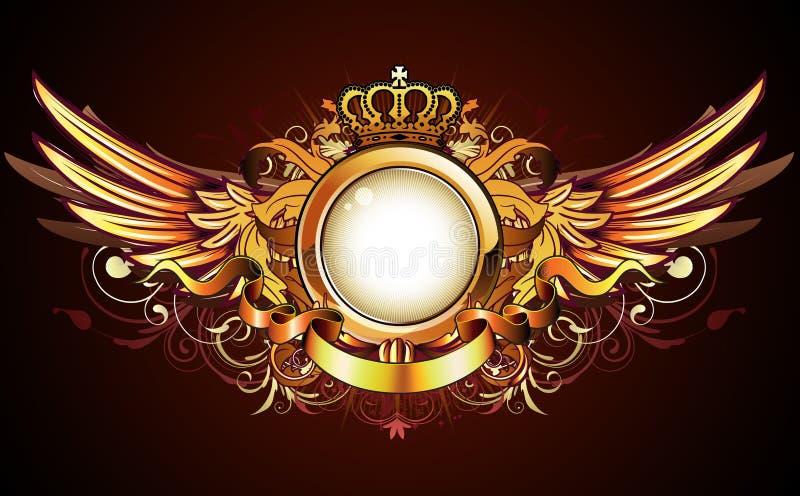 Heraldic golden frame vector illustration