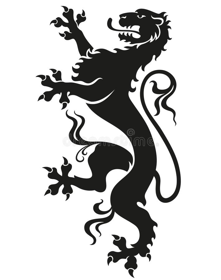 Heraldic leopard lion royalty free stock images