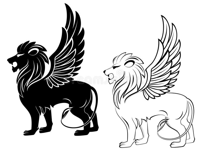 Heraldic lion royalty free stock photography