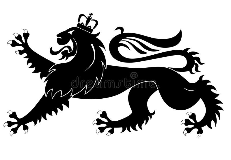 Heraldic lion stock illustration