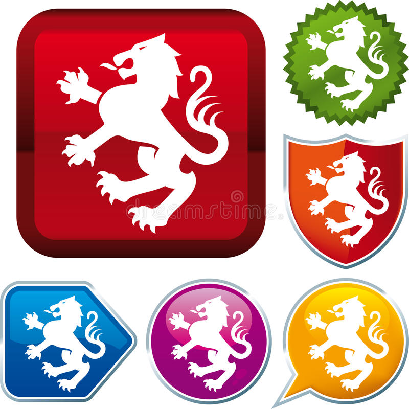 Download Heraldic lion icon stock vector. Image of lion, sign - 26925171