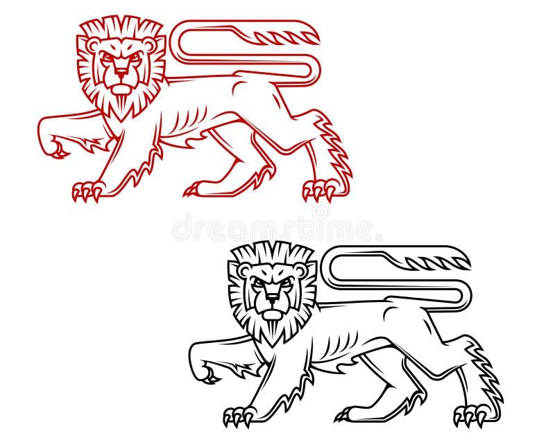 Heraldic Lion King Royalty Free Stock Photography