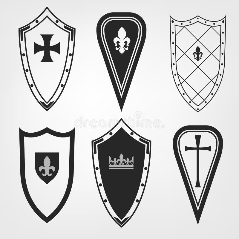 Medieval Shield Set Stock Vector Illustration Of Emblem 102865149