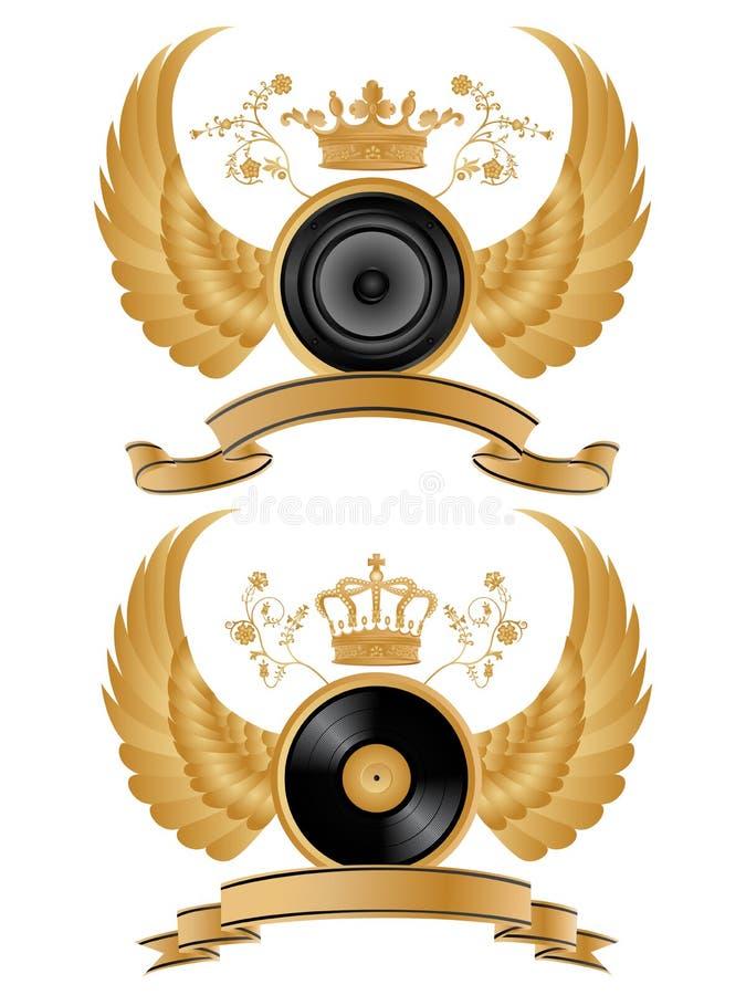 Download Heraldic music pattern. stock vector. Image of buckler - 9864563