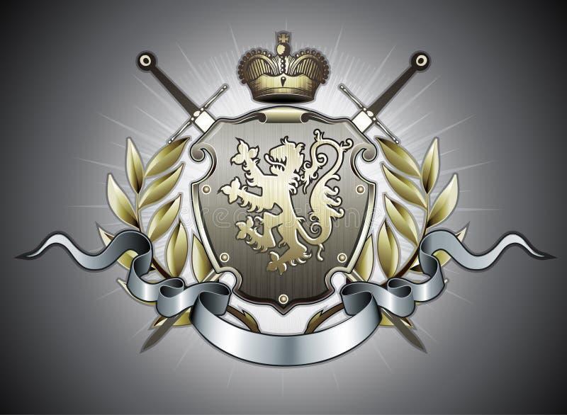 Heraldic shield royalty free illustration