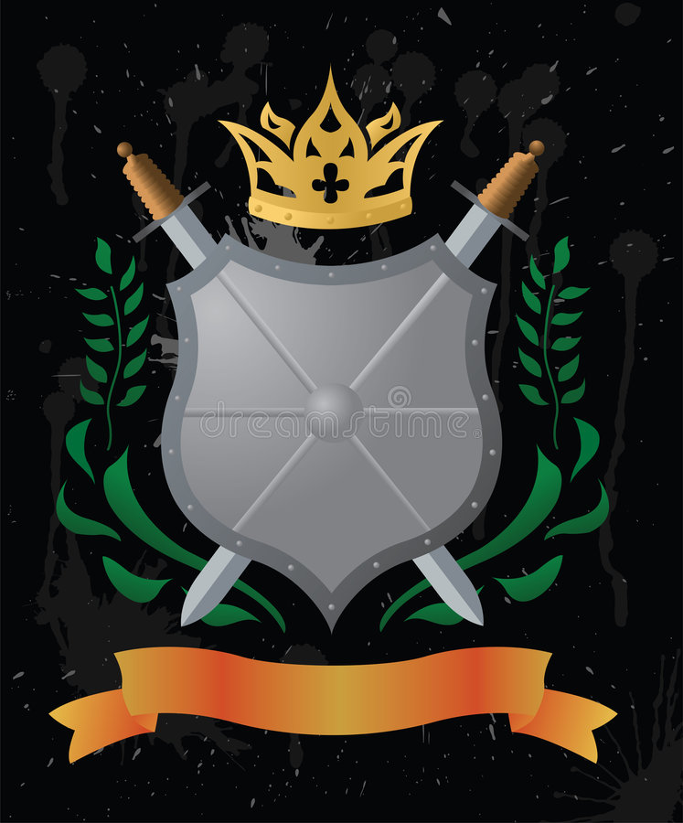 An heraldic shield vector illustration