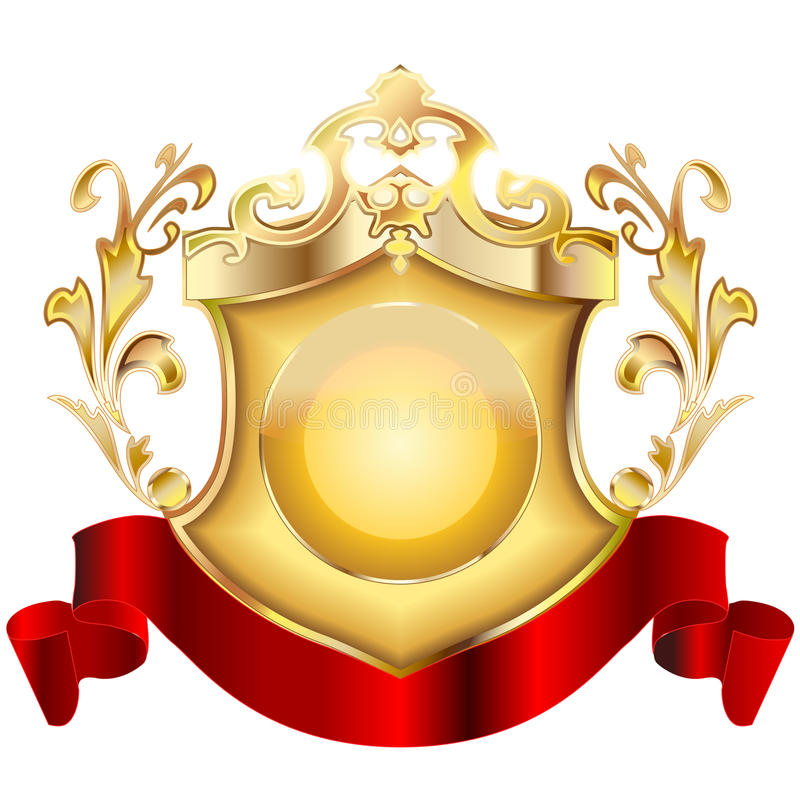 Heraldic shield v.2 royalty free stock image