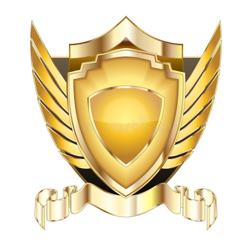 Heraldic shield v.5 royalty free stock image