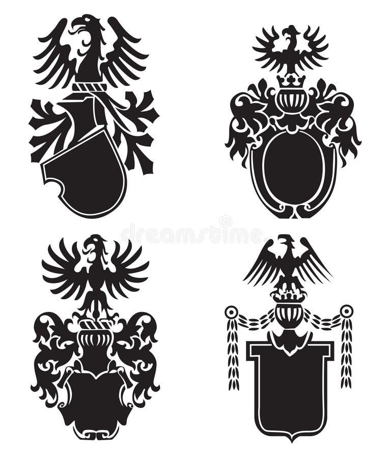 Heraldic Shields Stock Image