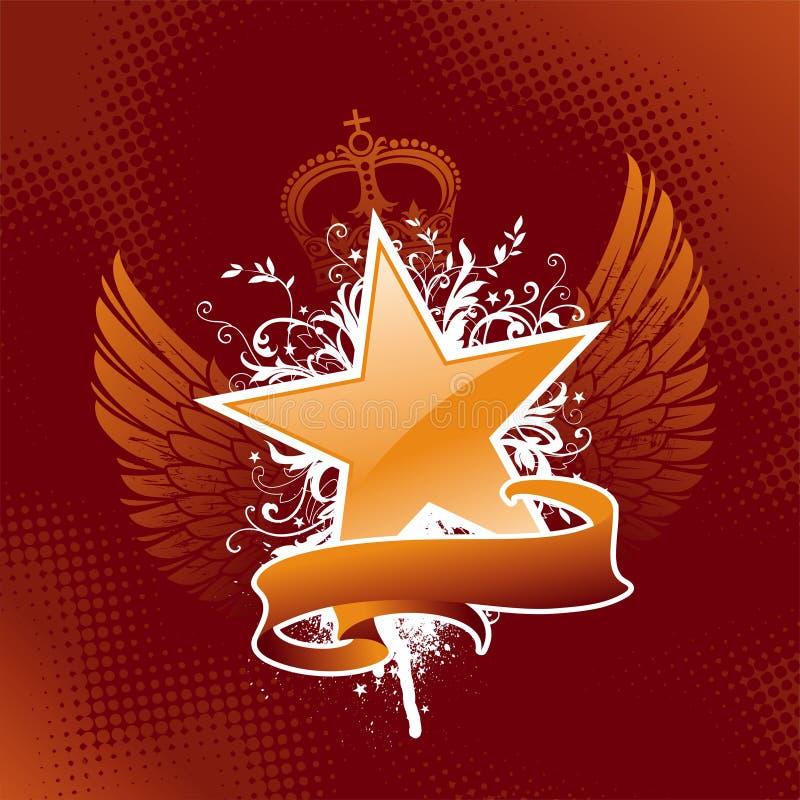 Download Heraldic star stock vector. Illustration of banner, ornamental - 9670087