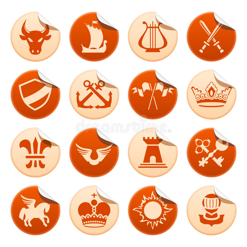Download Heraldic Stickers Royalty Free Stock Photo - Image: 12517975