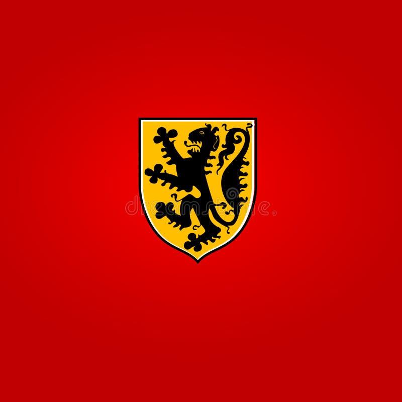 Heraldic symbol stock illustration